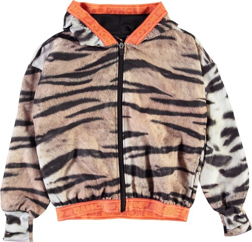 Airy Sports Jacket with Tiger Print