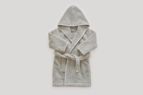 Soft Grey Baby Bath Robe
