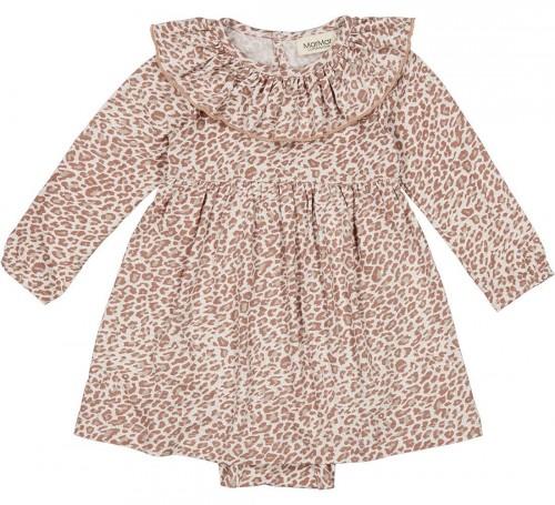 Cute Leopard Dress in Rose Brown Leo