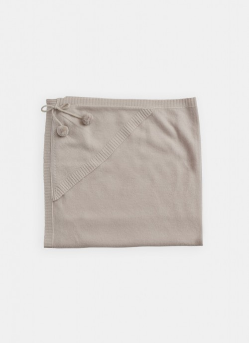 Delicate Hooded Blanket in Alabaster
