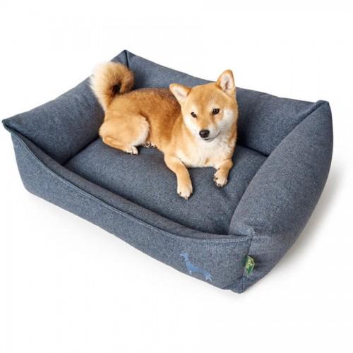 Elegant Dog Bed in Light Grey