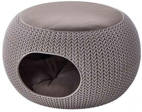 Round Cozy Cushion in Stone