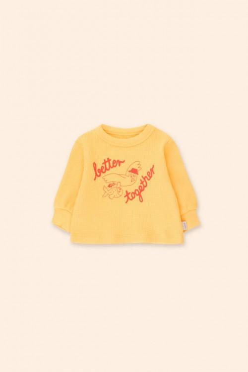 Soft Sweatshirt with Yellow Waffle Base