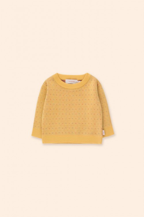 Comfy Knitted Sweater in Yellow