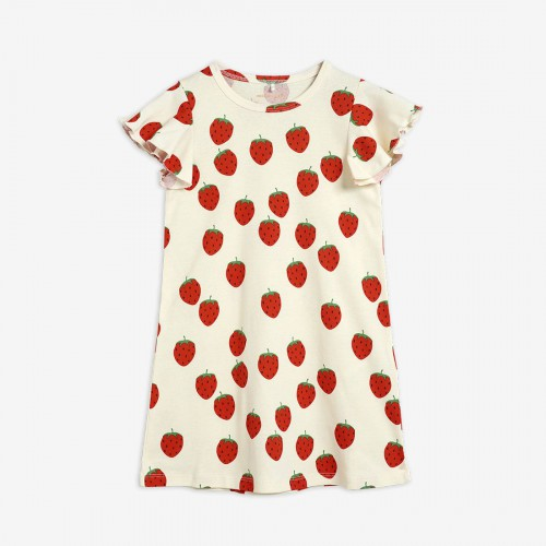 Sweet Dress with Strawberry Print