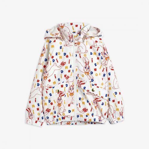 Sporty Jacket with Rabbit Print