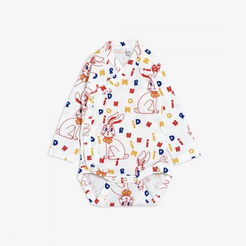 Silky Soft Wrap Body with Rabbit Print