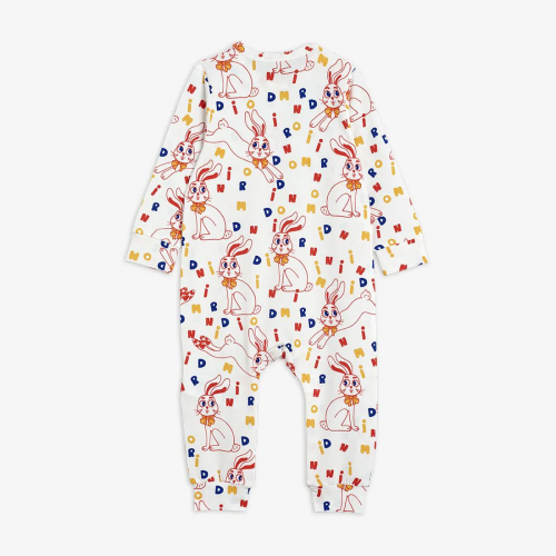 Silky Jumpsuit with Rabbit Print