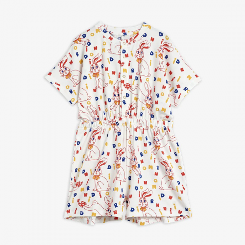 Soft Playsuit with Rabbit Print