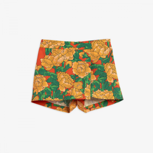 Peonies Printed Skirts with Shorts