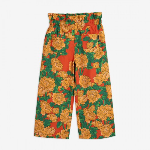 Relaxed Trousers with Peonies Print