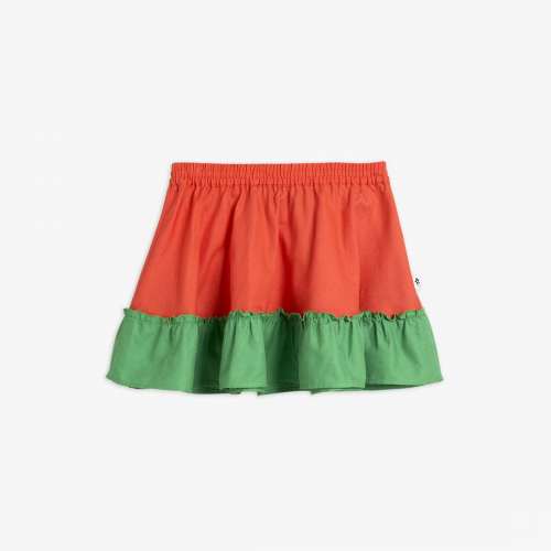 Green and Red Woven Skirt
