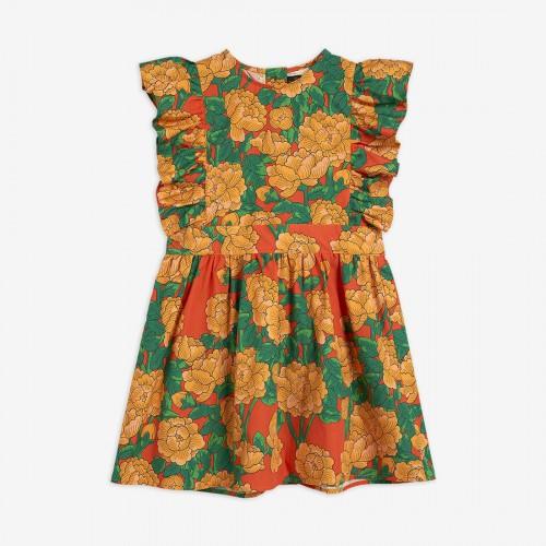 Fashionable Dress with Peonies Print