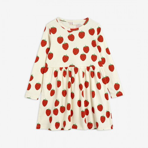 Long Sleeve Dress with Strawberry Print