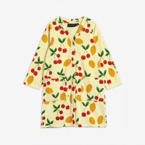 Soft Robe with Cherry Print