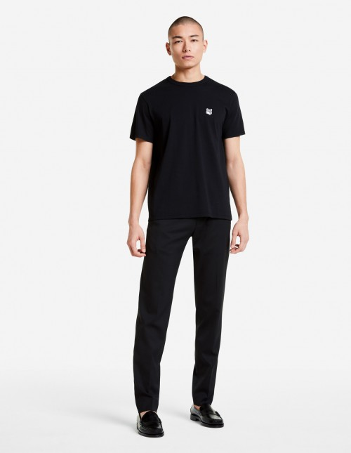 Black Cotton T-shirt with Classic Cut