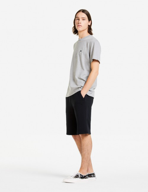Grey Cotton T-shirt with Classic Cut