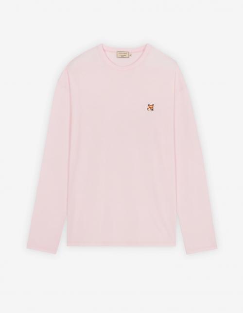 Unisex Long Sleeve T-shirt in Light Pink