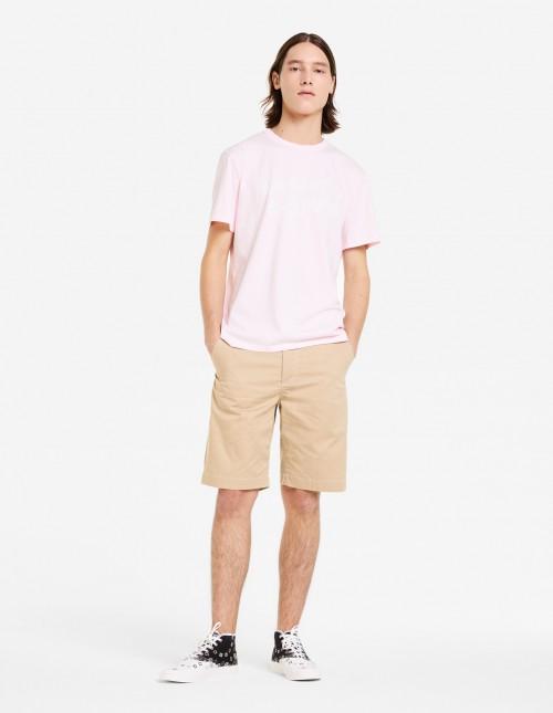 Light Pink Short Sleeve Cotton T-shirt