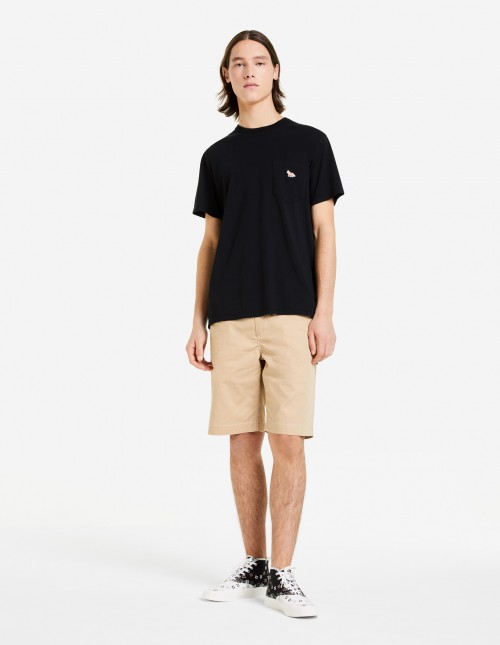 Black T-shirt with Patch Pocket
