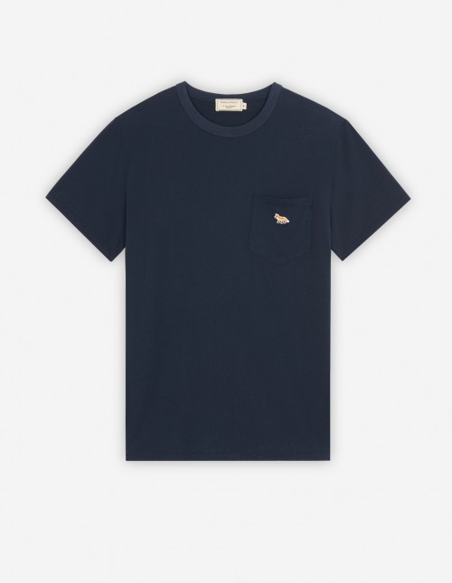 Navy T-shirt with Patch Pocket