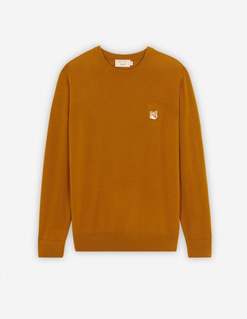 Caramel Unisex Wool Crewneck Pullover