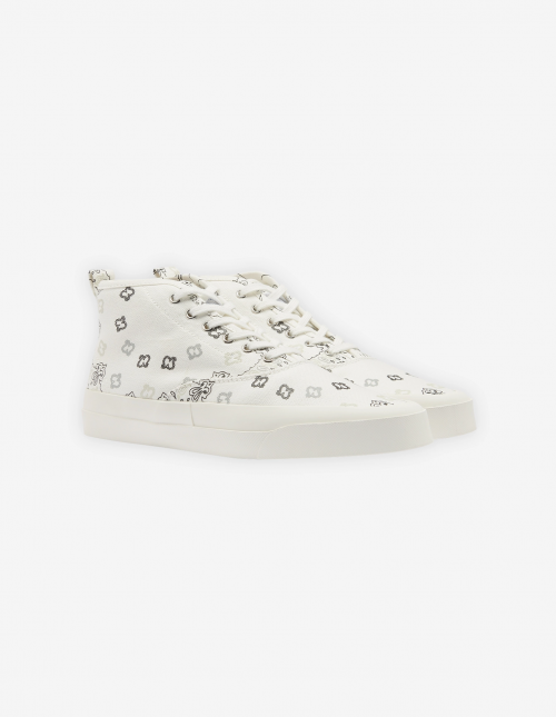 Unisex High Top Sneakers with Bandana Print