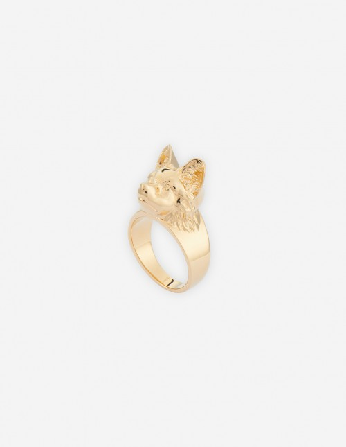 Classic Unisex Fox Head Ring