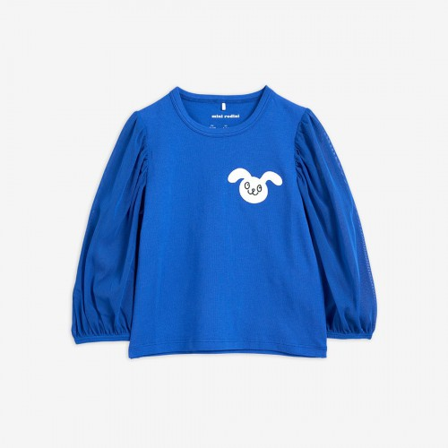 Dressy Blue Rabbit Sleeve Top