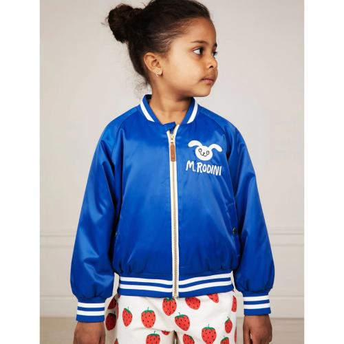Blue Shiny Rabbit Baseball Jacket