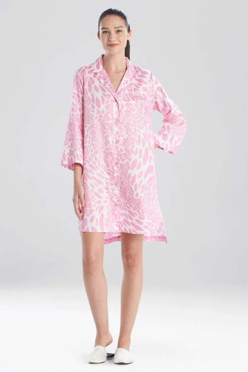 Soft Sleepshirt with Fuchsia Leopard Print