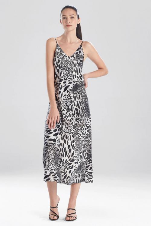 Gown with Black Jaguar Print