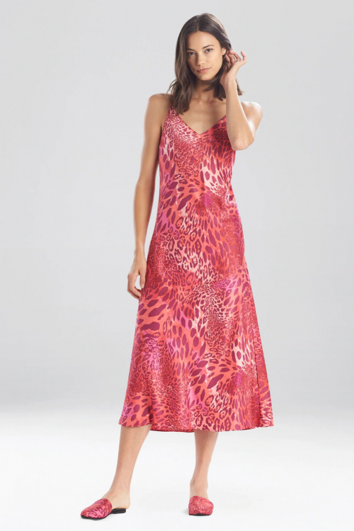 Gown with Pink Jaguar Print