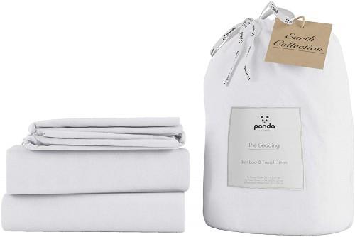Soft Linen Bedding in Coconut White