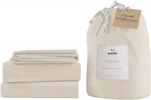 Ideal Linen Bedding in Natural Colour