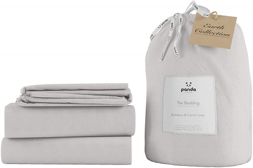 Perfect Linen Bedding in Silver Lining Grey