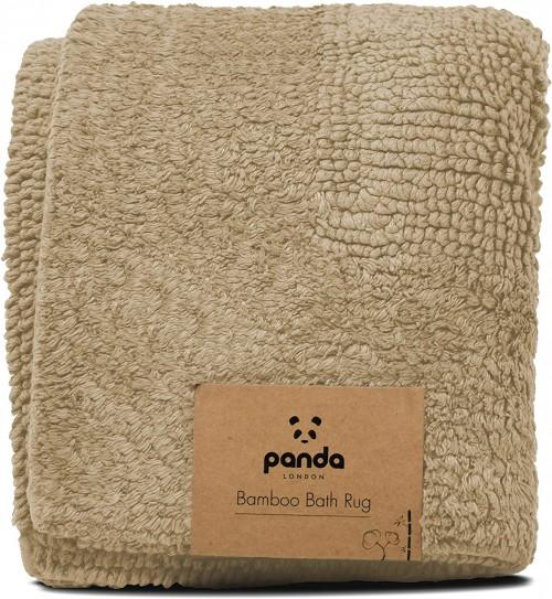 Luxuriously Bamboo Bath Rug in Sand