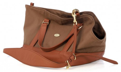 Brown Leather Dog Carrier