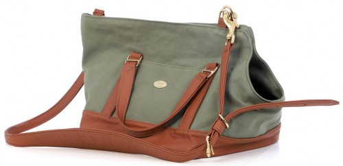 Green and Cognac Simple Carrier