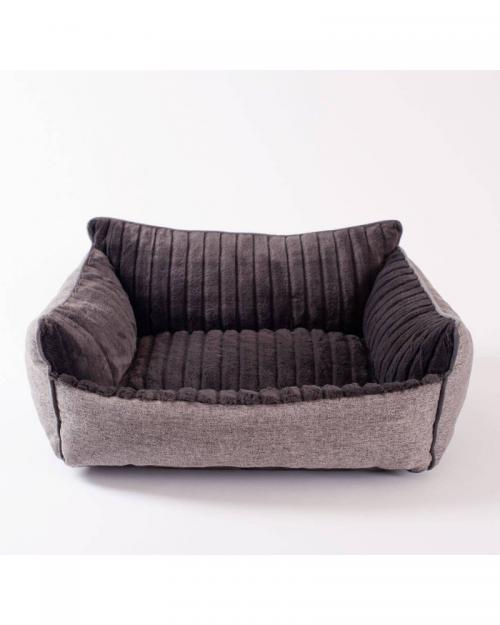 Tweed Dog Bed in Brown