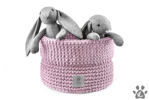 Useful Toys Basket in Dusty Pink