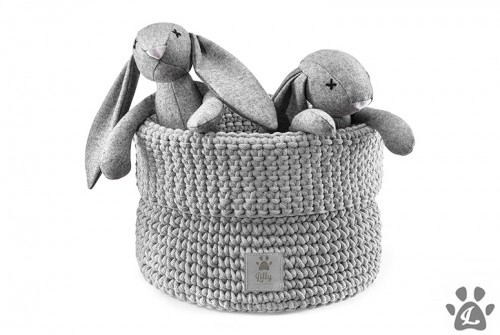 Functional Toys Basket in Light Grey