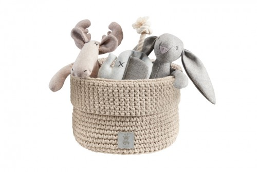 Practicable Toys Basket in Sand Beige