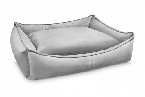 Noble Dog Bed in Silver Grey