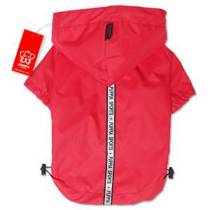 Red Windbreaker Style Raincoat
