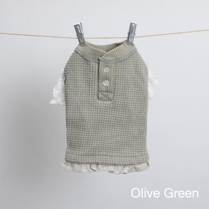 Stylish Tee Frill in Olive