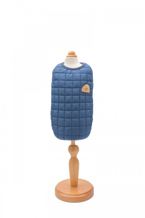 Soft Lining Cotton Coat in Navy