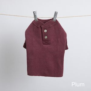 Cute Texture Shirt in Wine