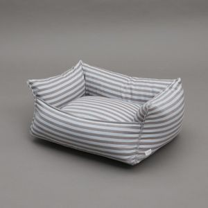 Stunning Dog Bed with Blue Stripes