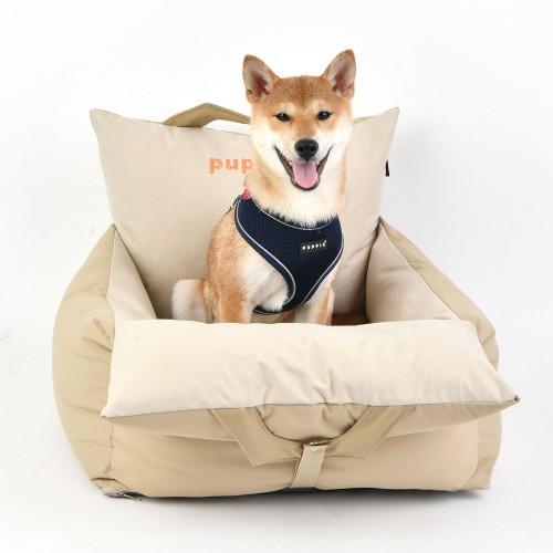Comfortable Dog Seat in Beige